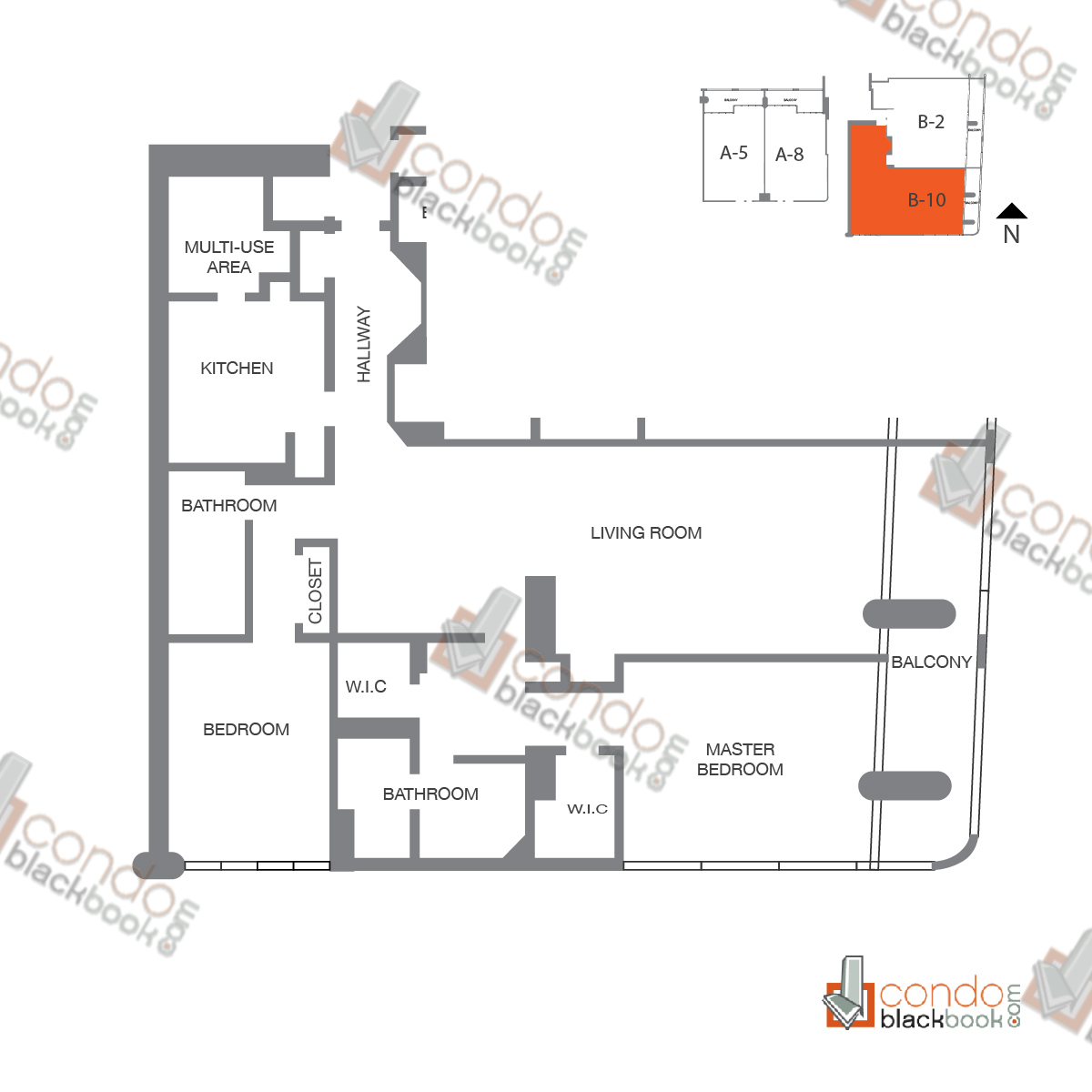 Floor plan for The Grand Arts & Entertainment District Miami, model Unit 31, line A-3131, B-4131, 3/3 bedrooms, 3,089 sq ft