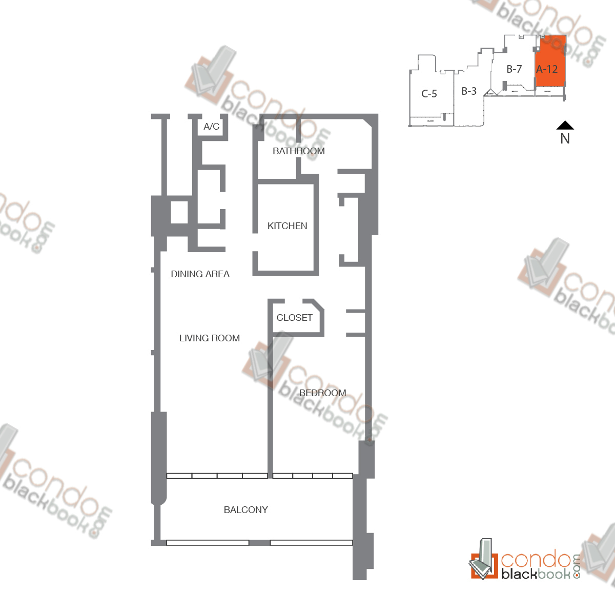 Floor plan for The Grand Arts & Entertainment District Miami, model Unit 49, line A-1049 to A-2249, 1/1 bedrooms, 1,001 sq ft