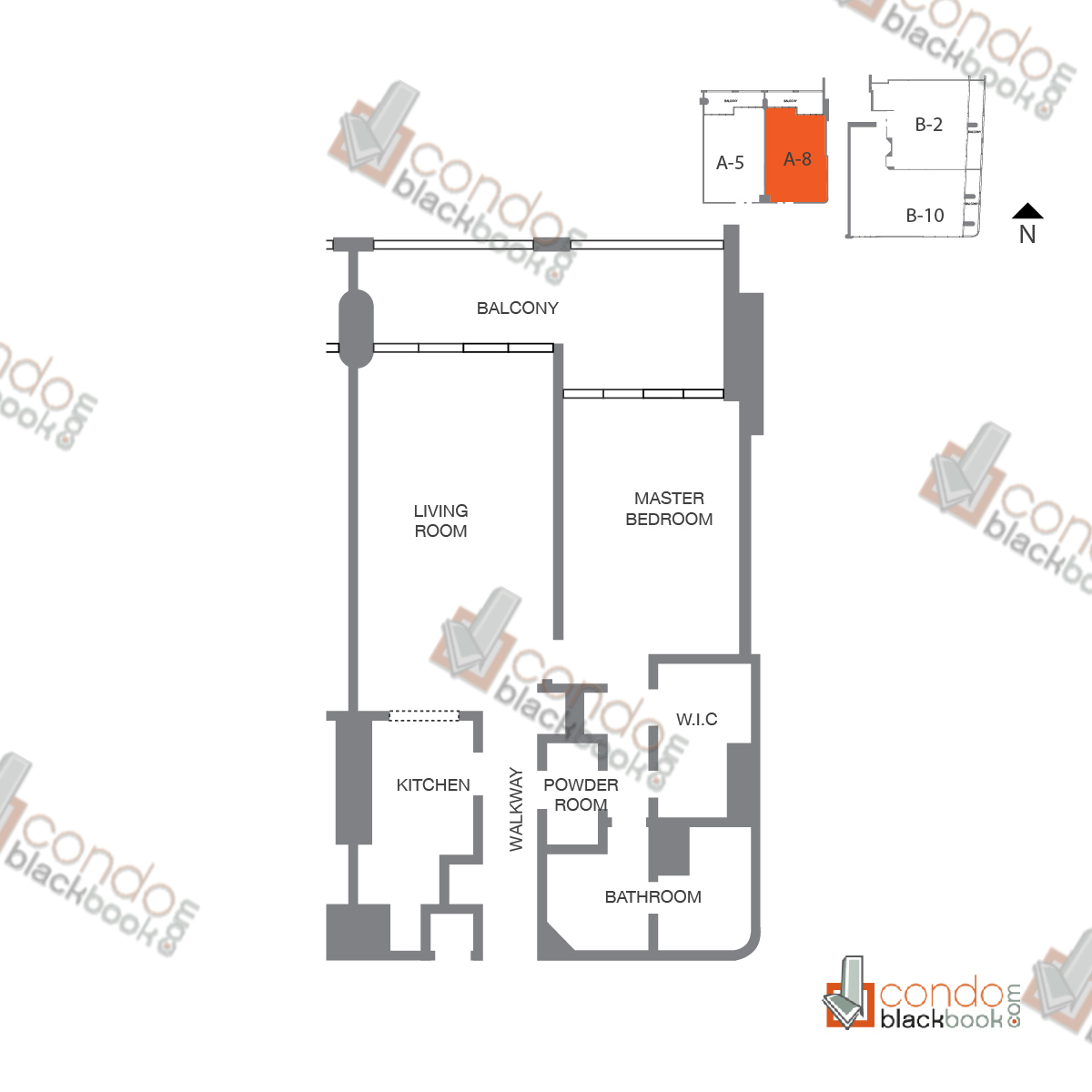 Floor plan for The Grand Arts & Entertainment District Miami, model Unit 50 (10-22), line A-1050 to A-2250, 1/1.5 bedrooms, 1,091 sq ft