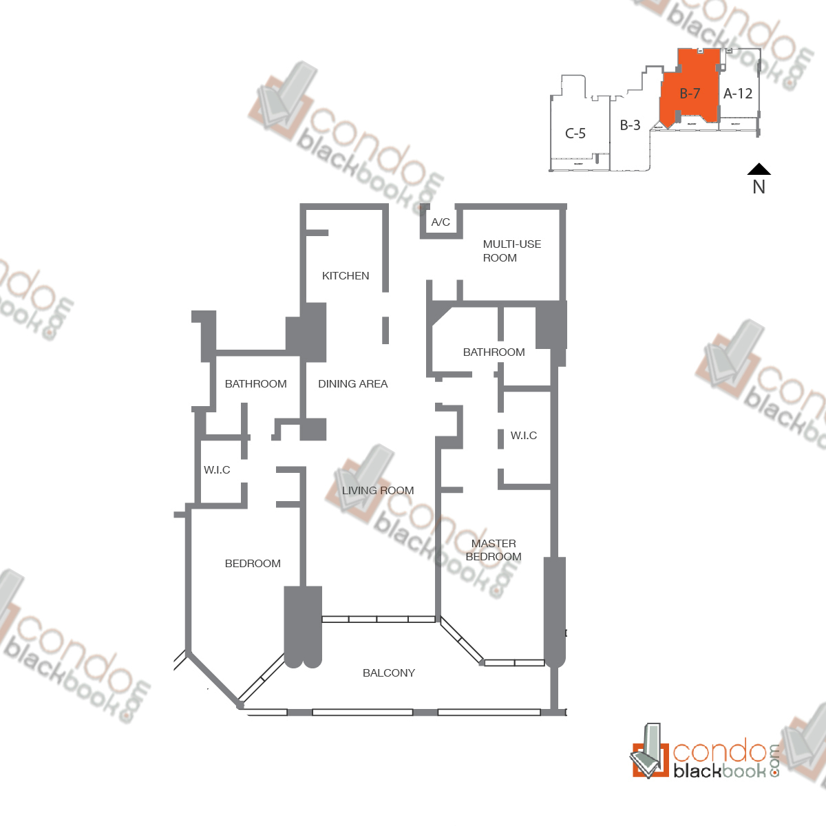 Floor plan for The Grand Arts & Entertainment District Miami, model Unit A-1041, line A-1041, 1/1.5 bedrooms, 1,154 sq ft