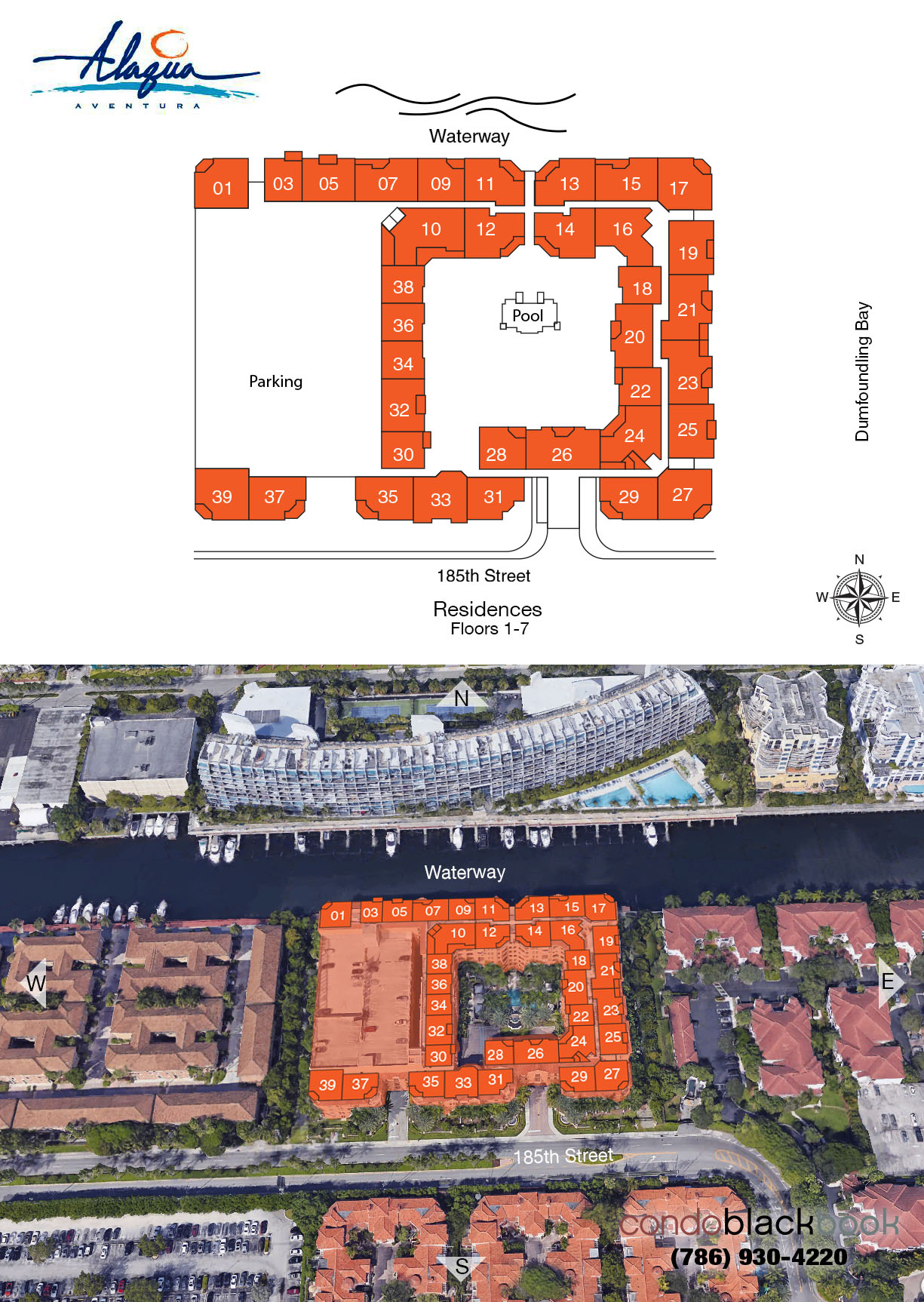 Alaqua floorplan and site plan