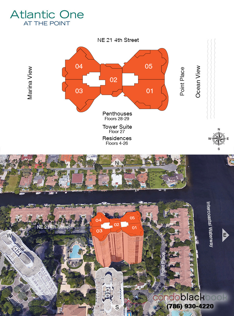 Atlantic I at the Point floorplan and site plan