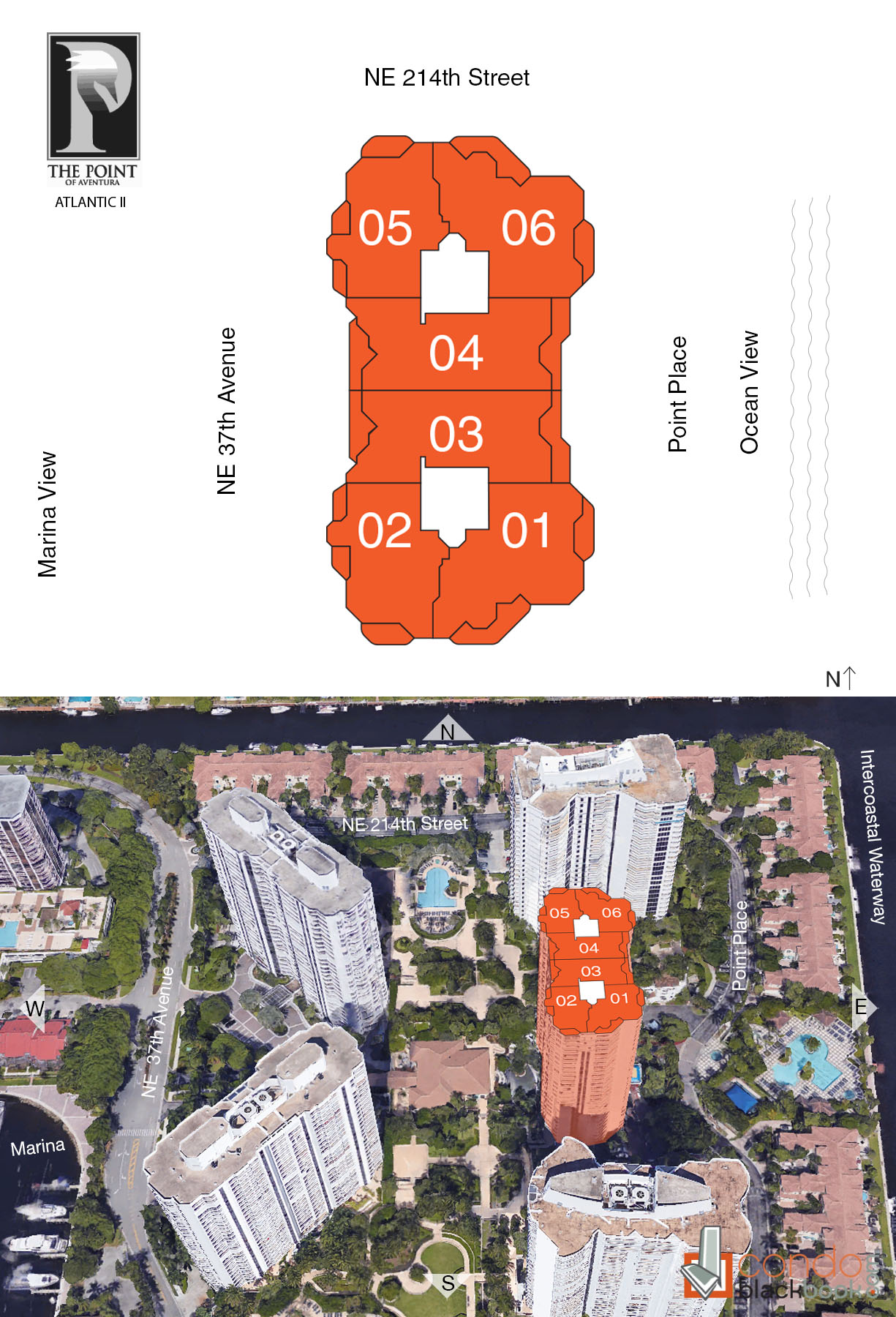 Atlantic II at the Point floorplan and site plan