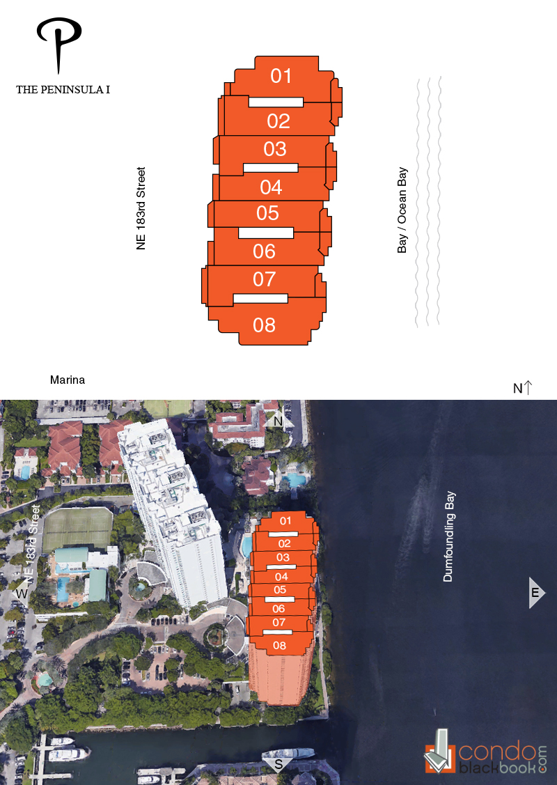 Peninsula floorplan and site plan