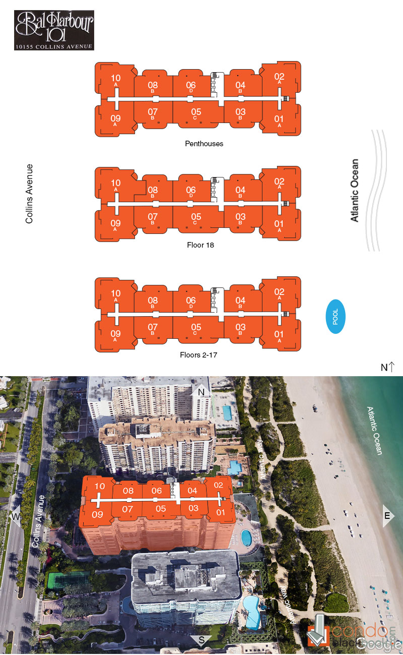 Bal Harbour 101 floorplan and site plan