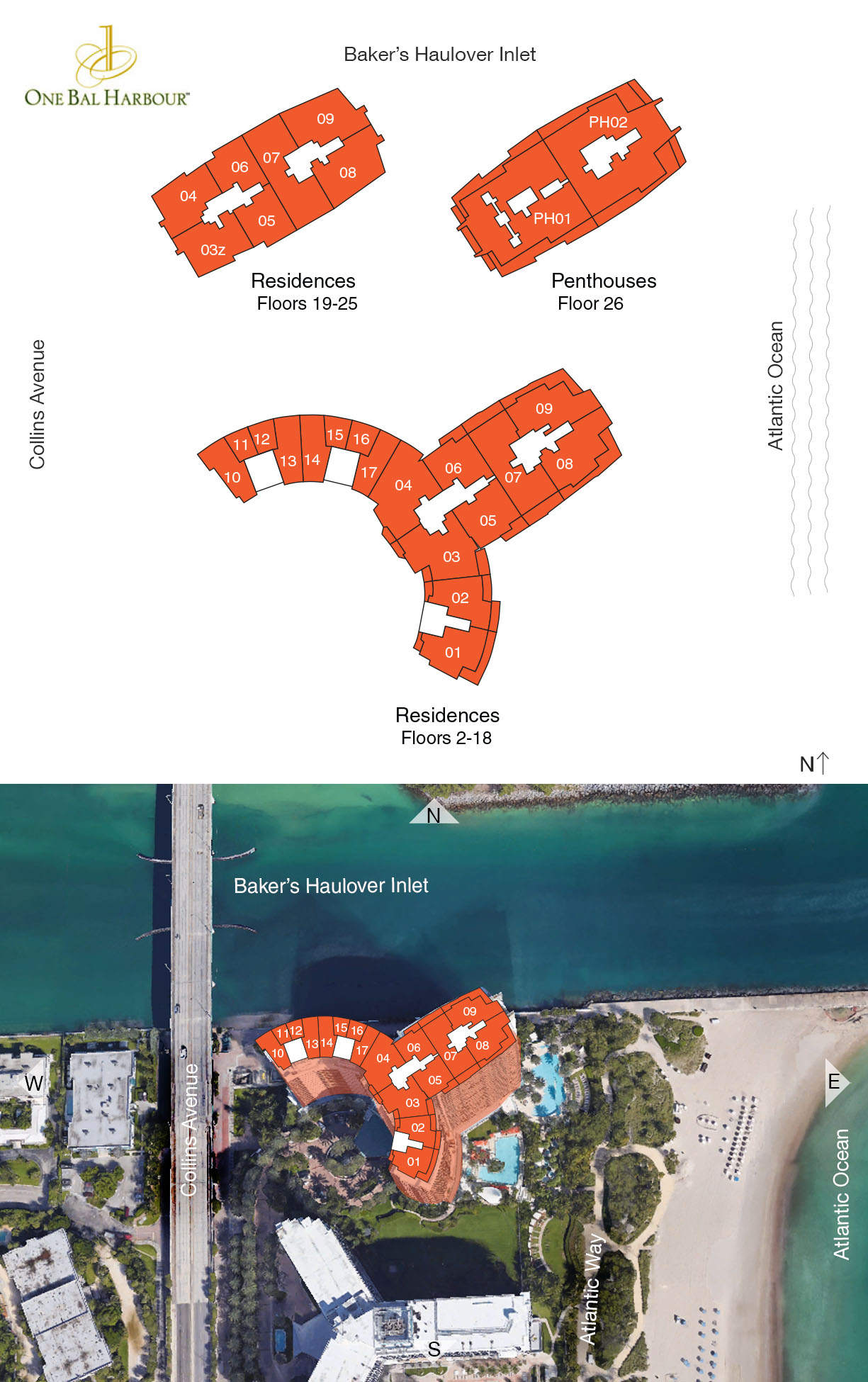 One Bal Harbour Floor Plans