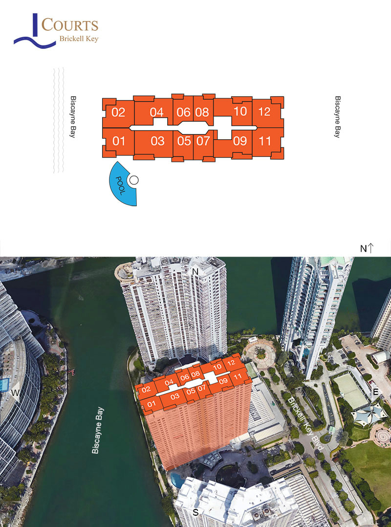 Courts Condo Brickell Key Floor Plans