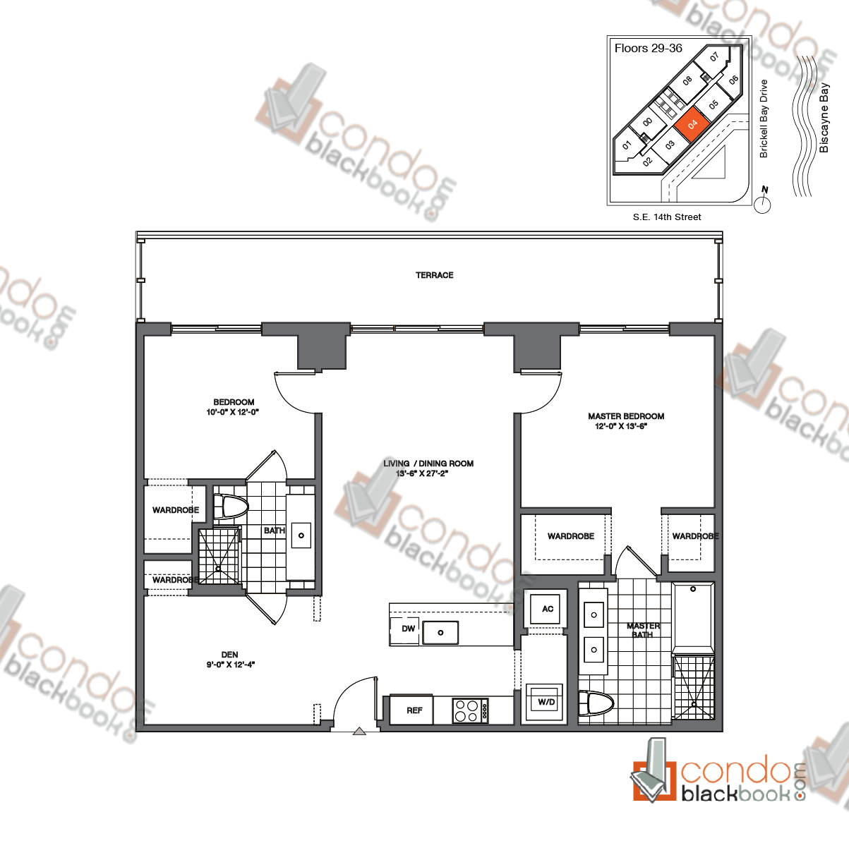 Brickell house unit 3104 condo for sale in brickell for Miami house plans