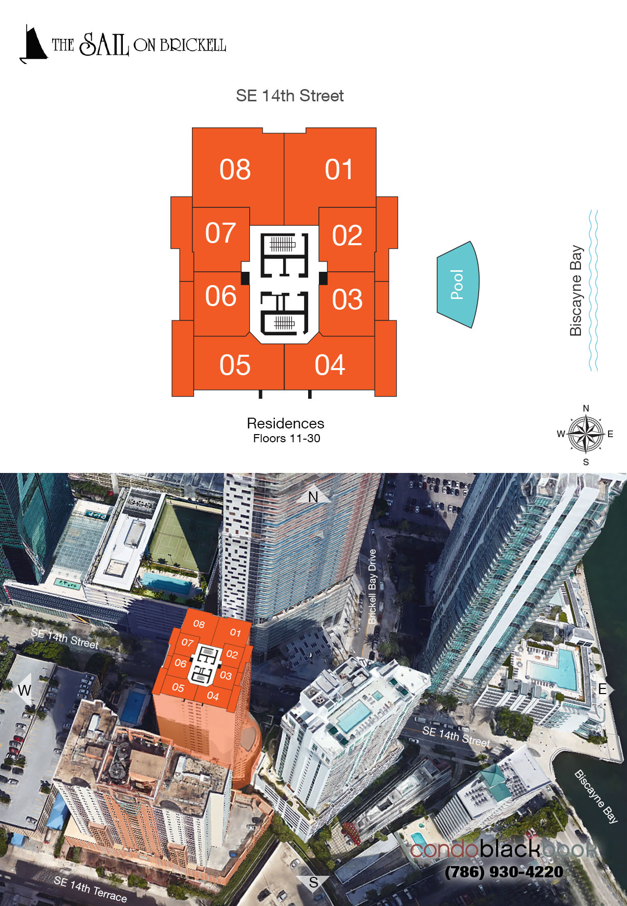 Sail on Brickell Floor Plans