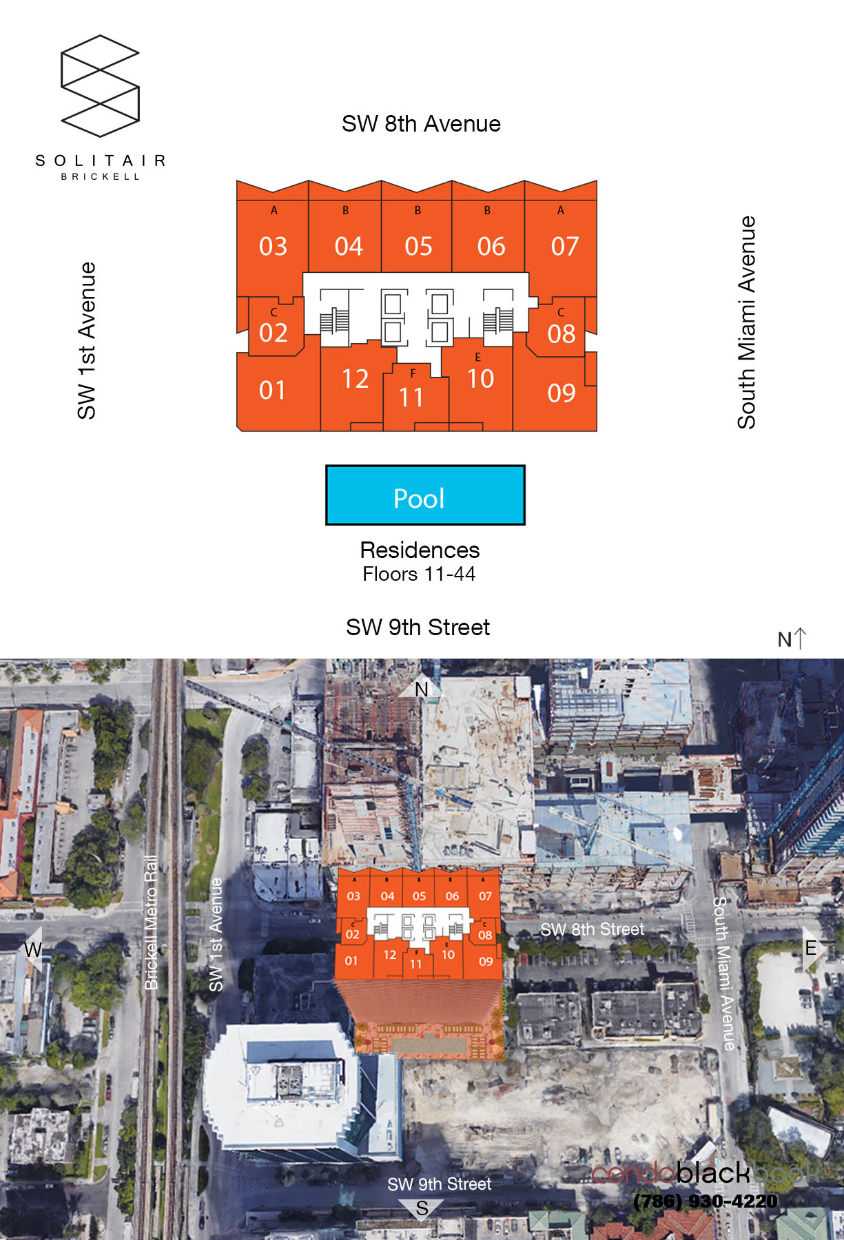 Solitair Brickell Floor Plans