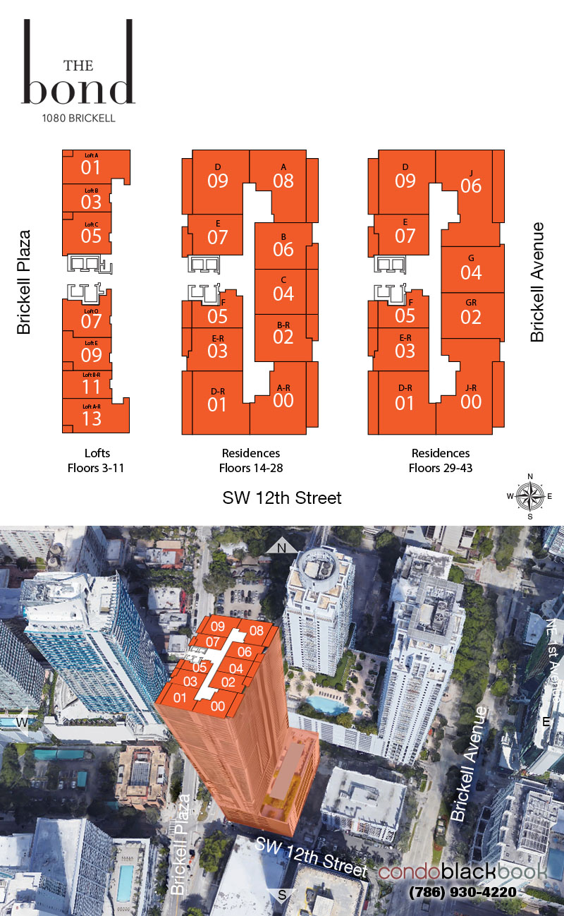 The Bond floorplan and site plan