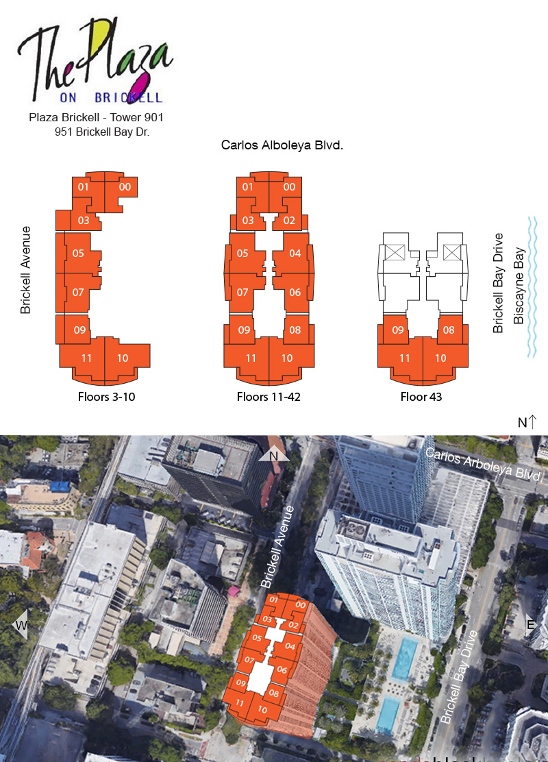 The Plaza on Brickell South Floor Plans