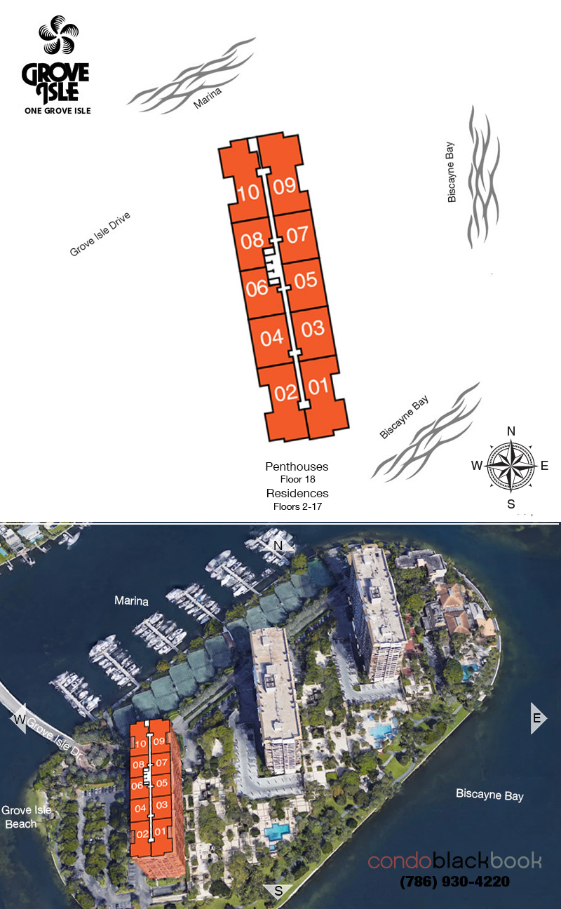 One Grove Isle Condo Floor Plans