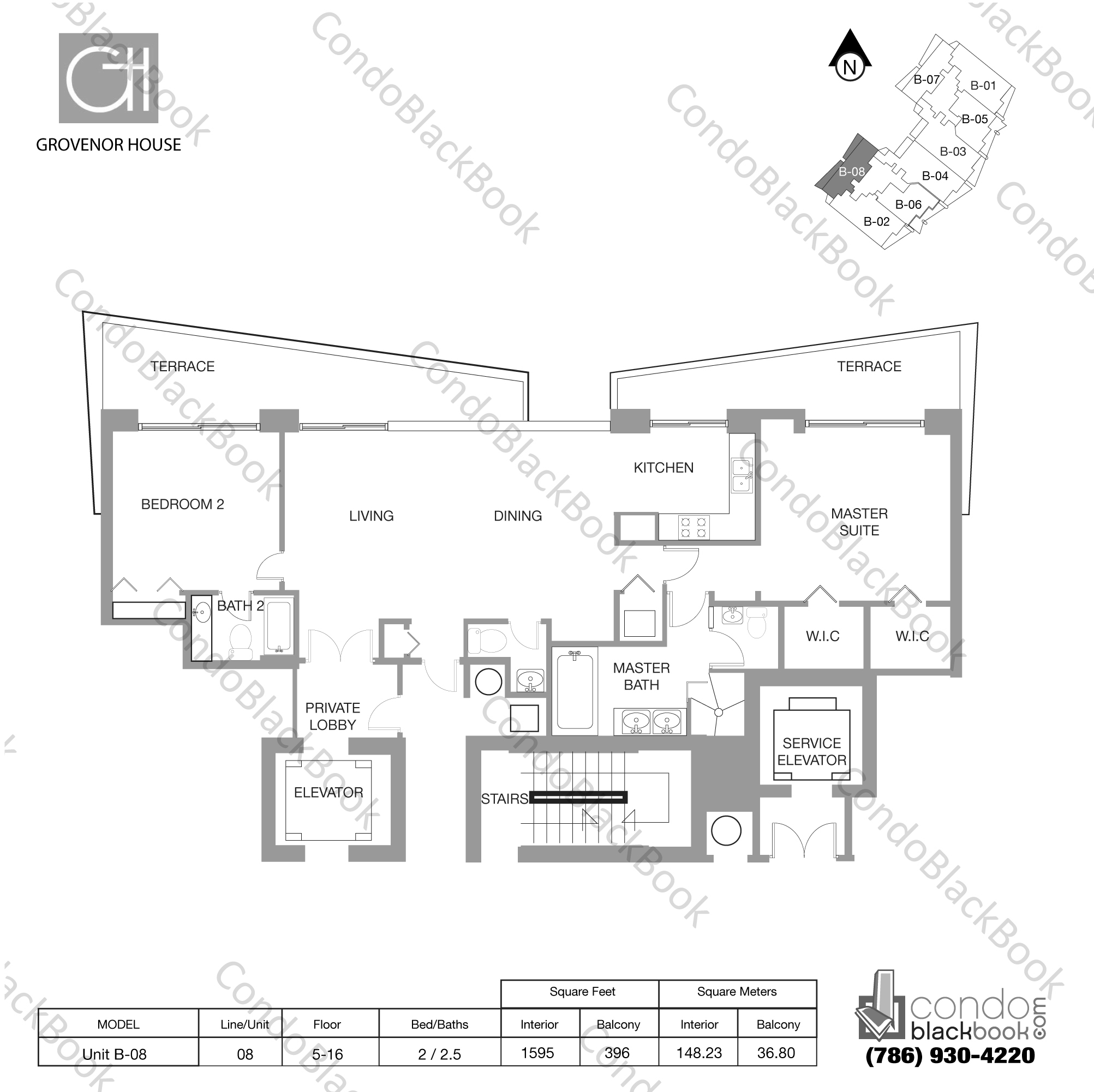 Grovenor house unit 1208 condo for sale in coconut grove for Miami mansion floor plans