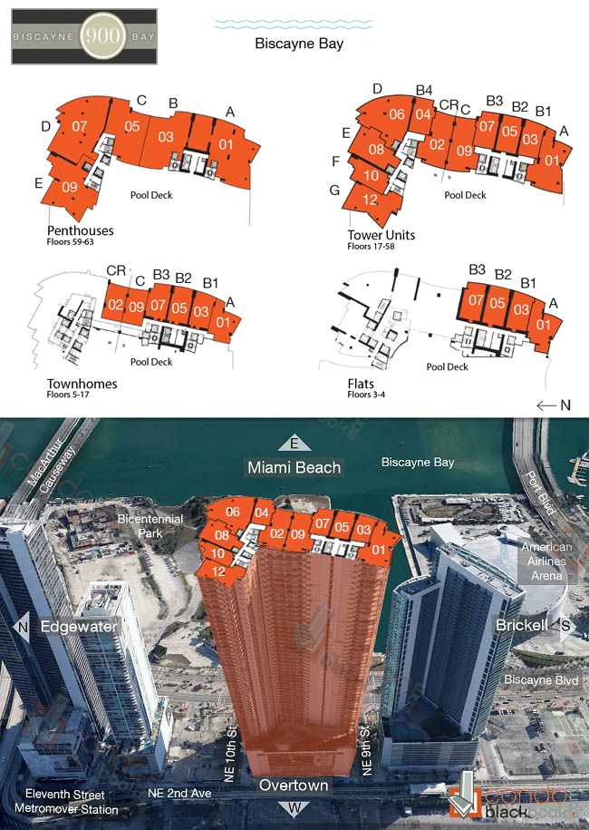 900 Biscayne Bay Floor Plans