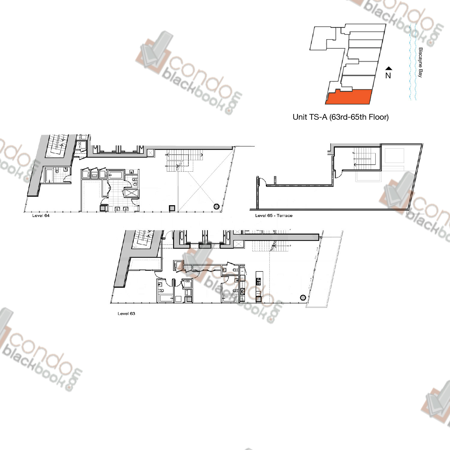 Floor plan for Marquis Downtown Miami Miami, model TS-A, line 01, 3/4.5 bedrooms, 3,831 sq ft
