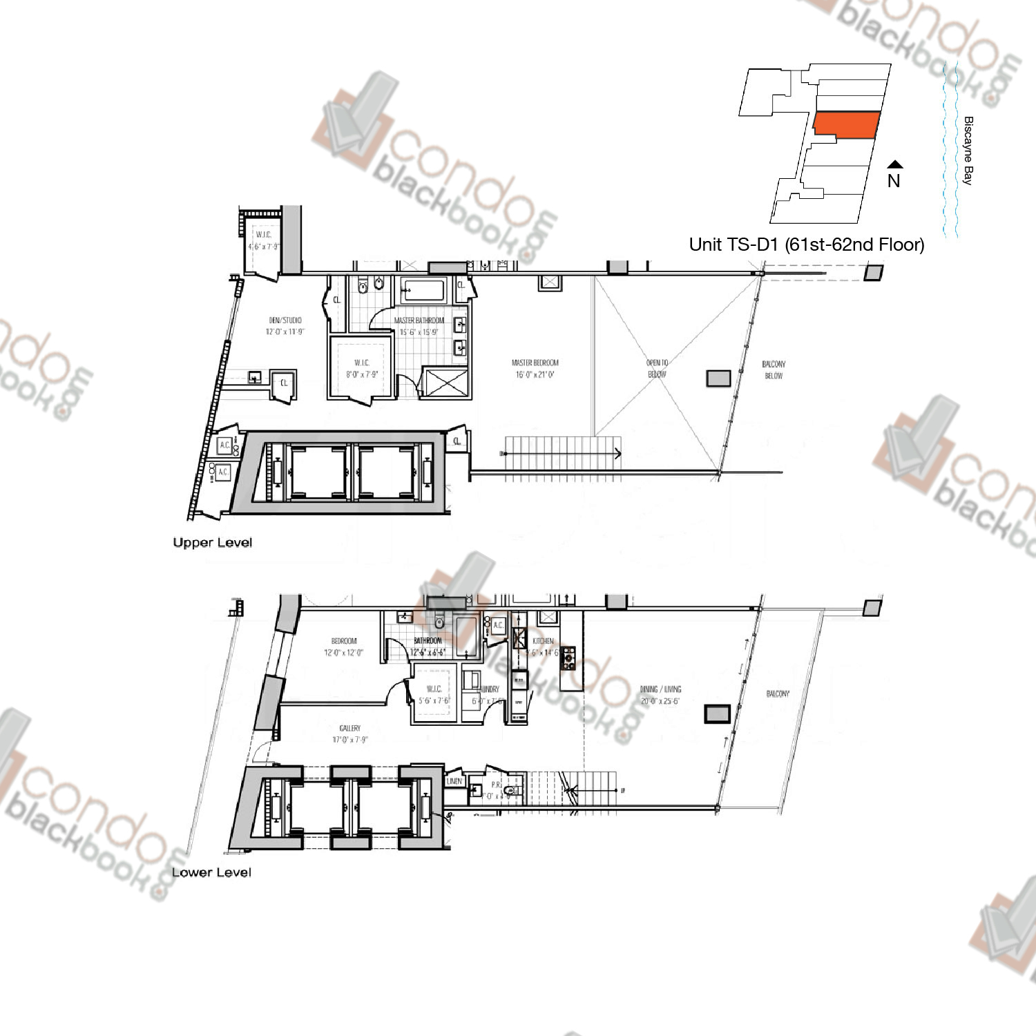 Floor plan for Marquis Downtown Miami Miami, model TS-D1, line 04, 2/2.5 + Den bedrooms, 2,731 sq ft