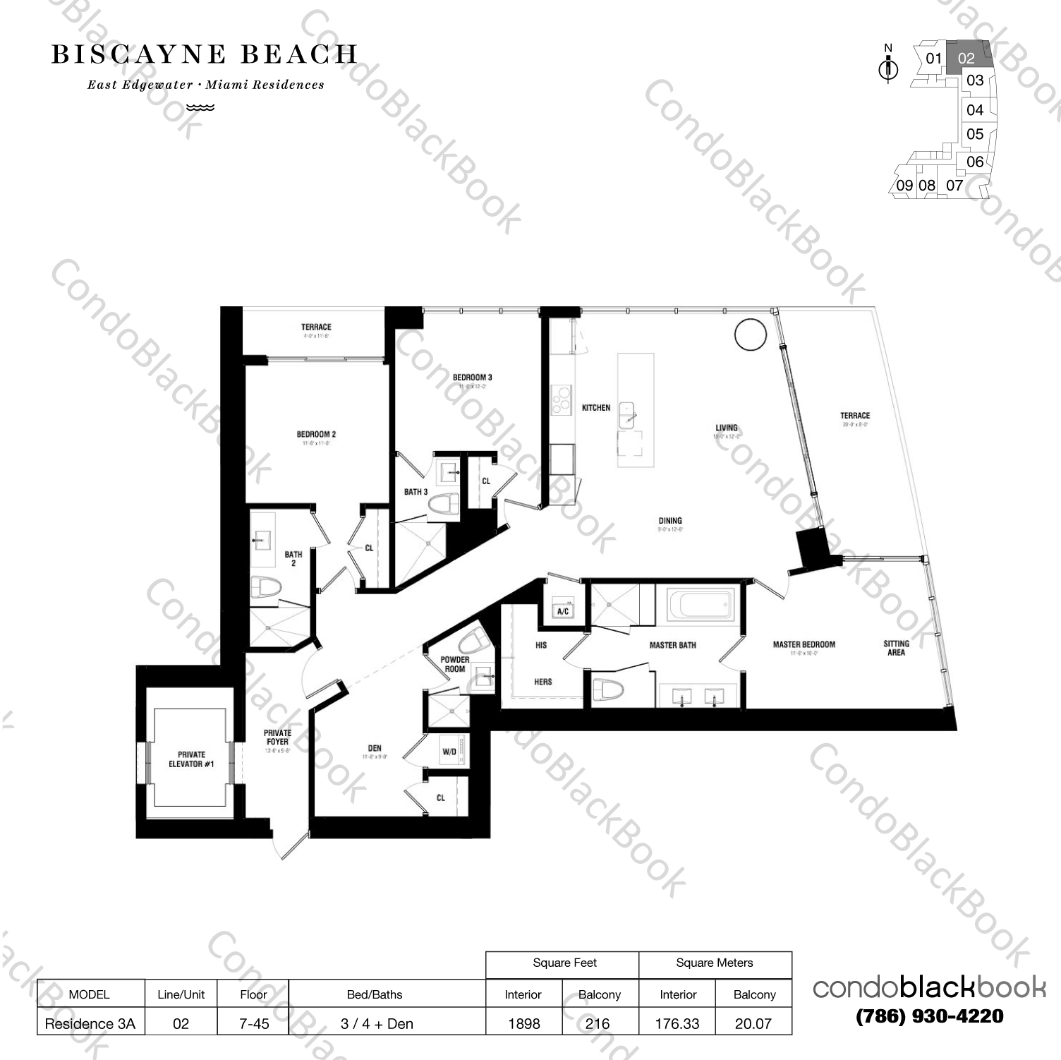Biscayne beach unit 802 condo for sale in edgewater for Floor plans 900 biscayne