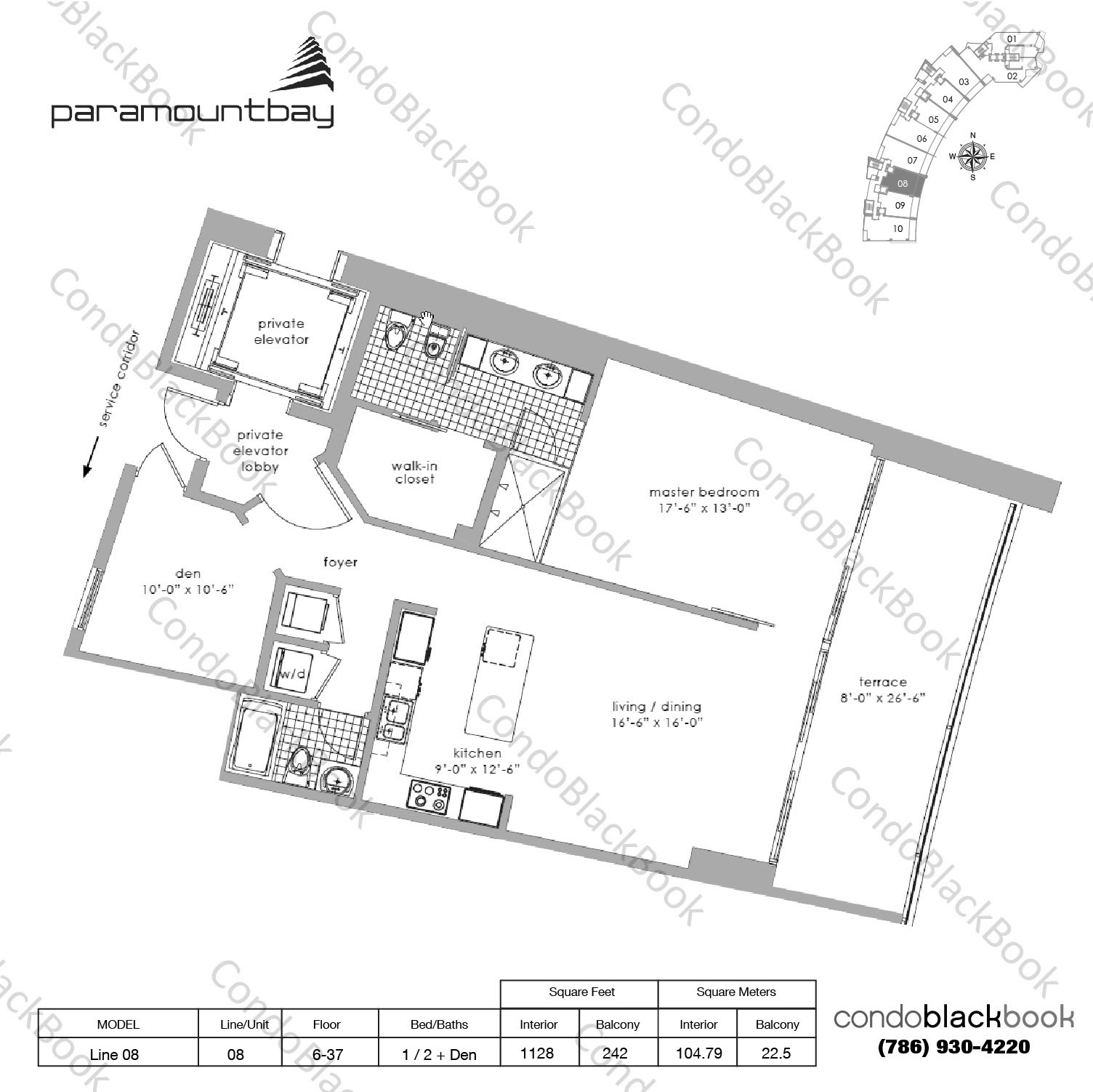 Paramount Bay Unit #1408 Condo For Sale In Edgewater