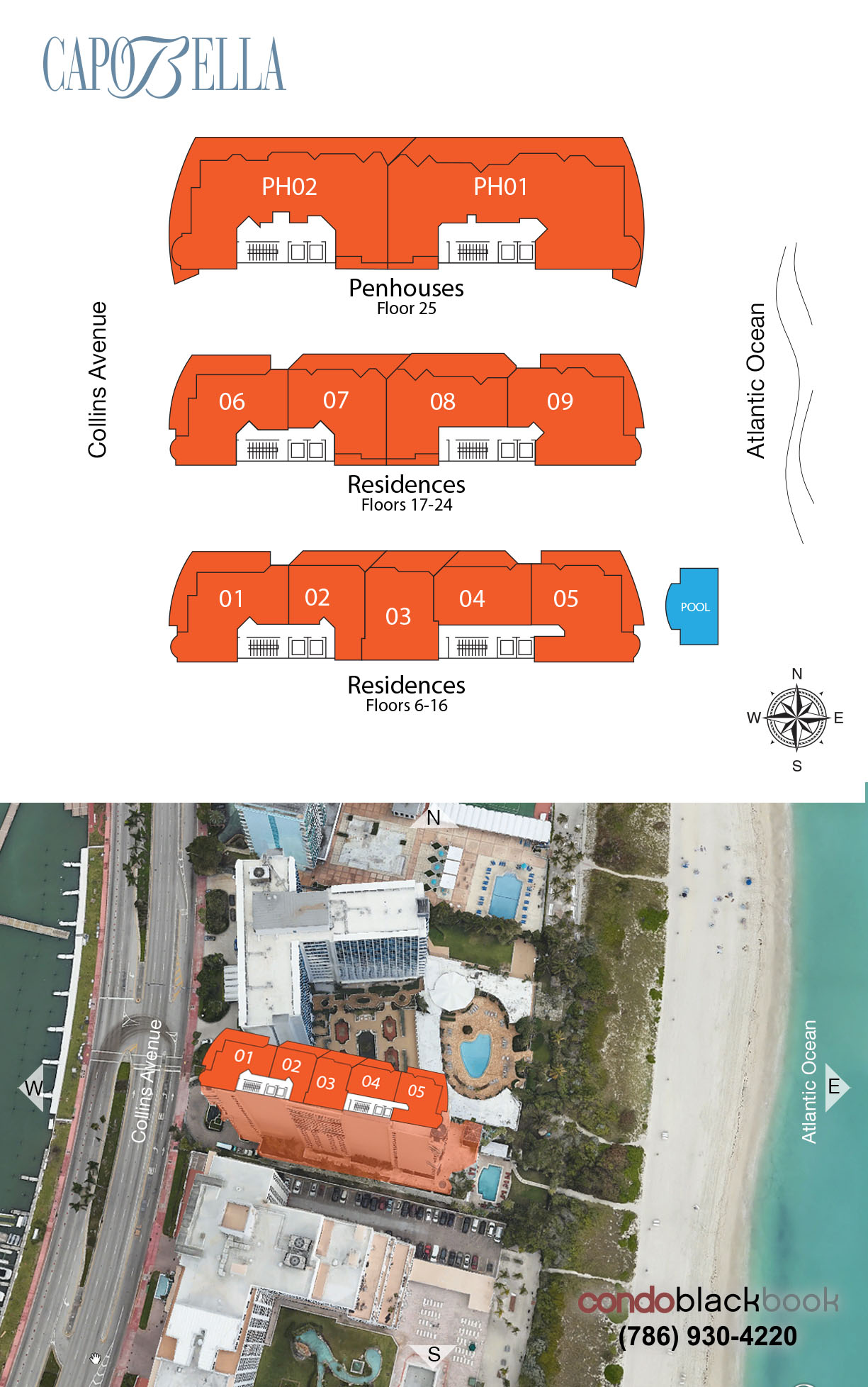 Capobella floorplan and site plan