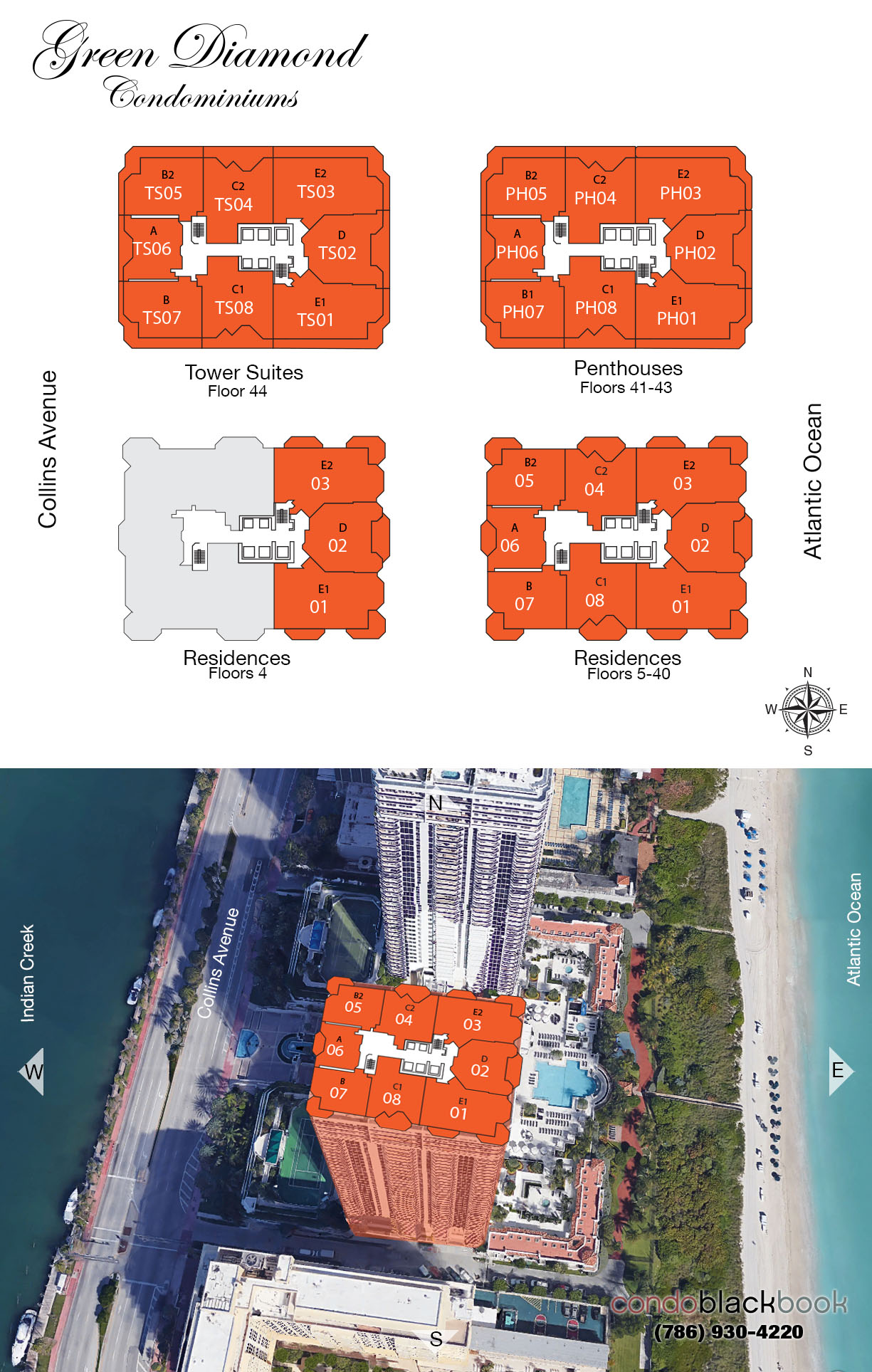 Green Diamond floorplan and site plan
