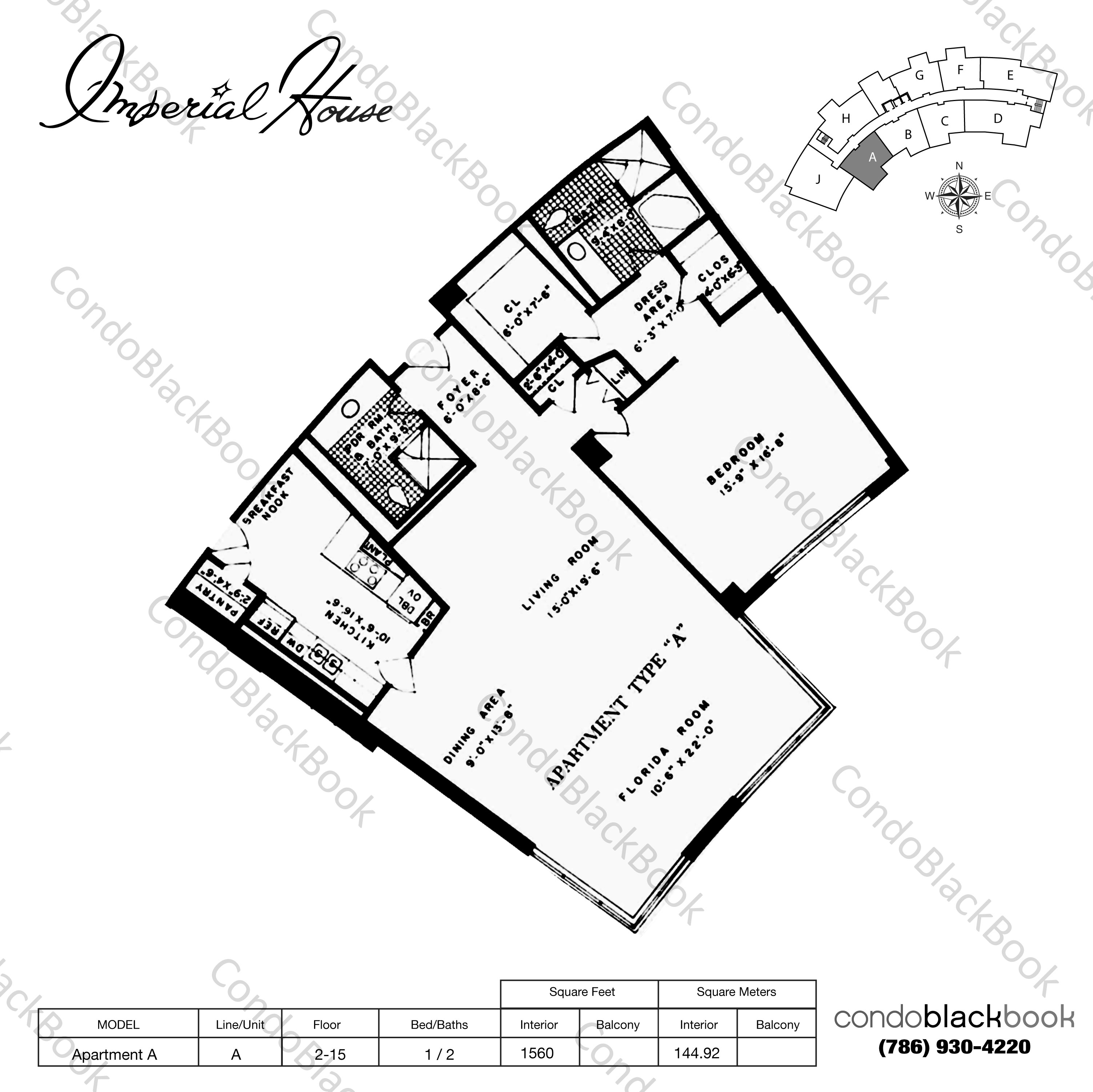 Imperial House Unit #8C Condo For Rent In Mid-Beach