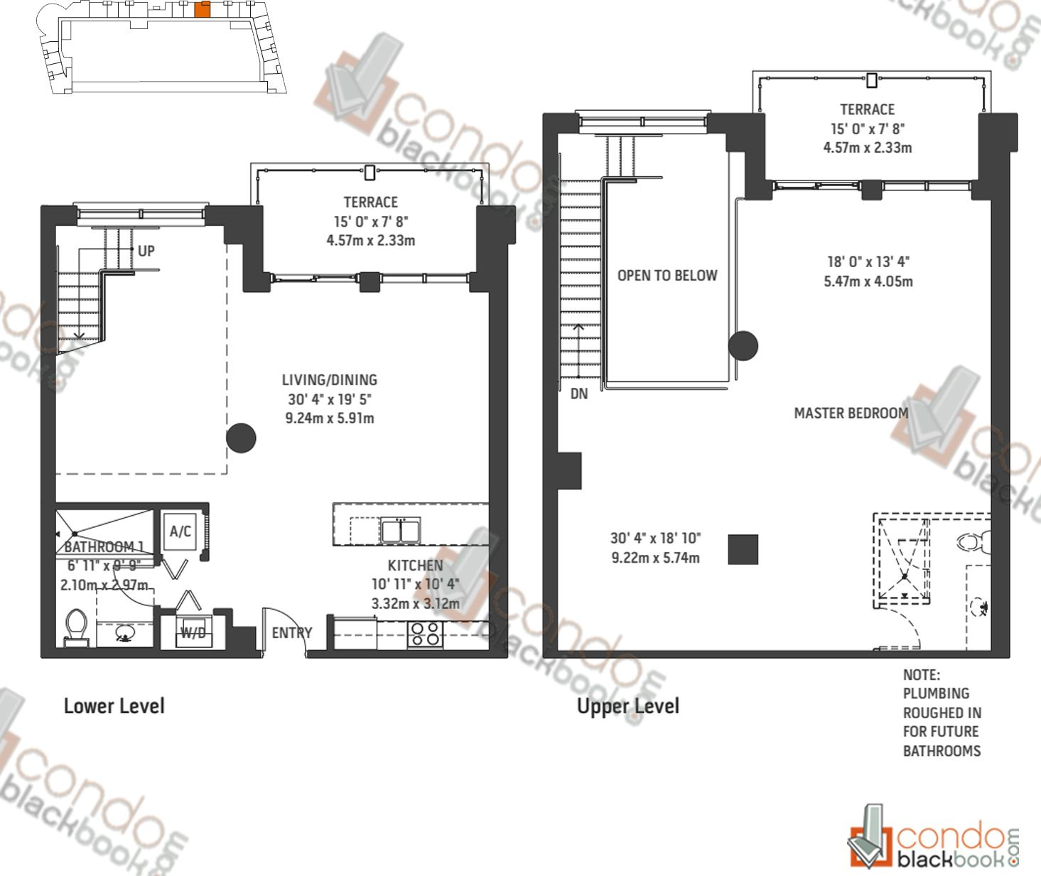 Floor plan for Midblock Condominium Midtown Miami, model Unit L6, line 06, 0/1 bedrooms, 1,809 sq ft