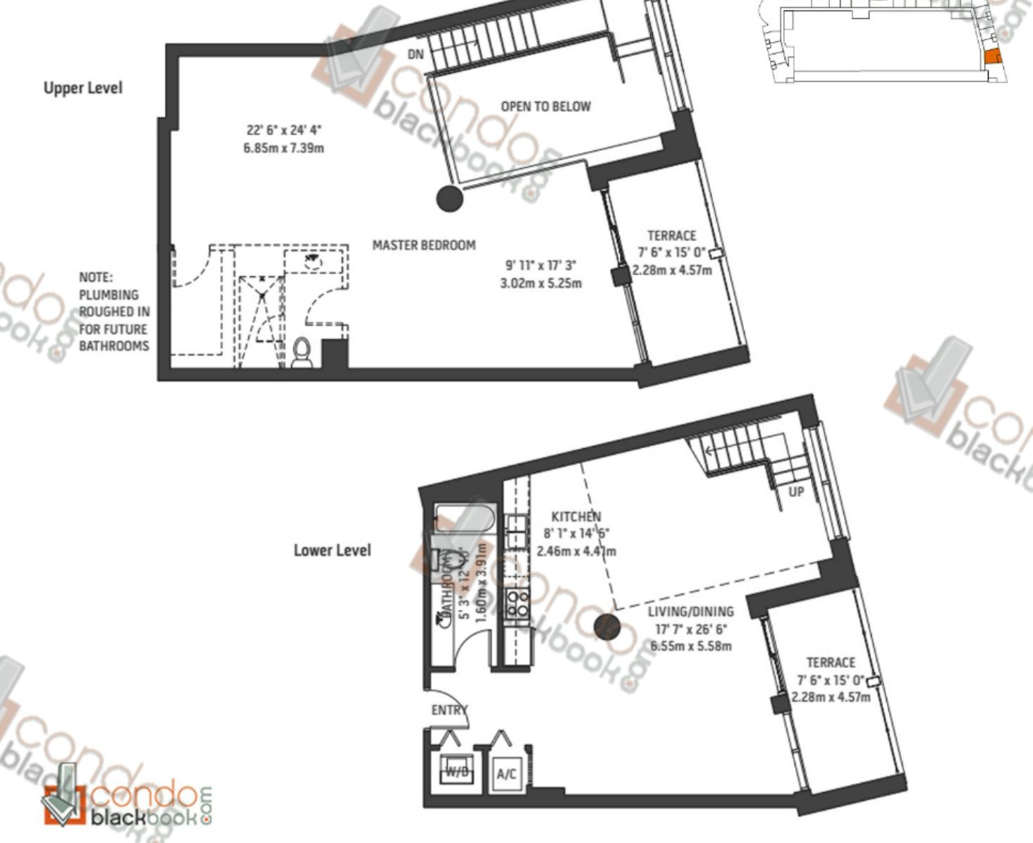 Floor plan for Midblock Condominium Midtown Miami, model Unit L9, line 09, 0/1 bedrooms, 1,629 sq ft