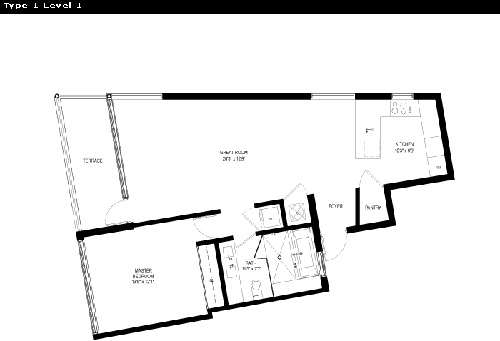 Floor plan for Capri Marina Piccola South Beach Miami Beach, model 1, line Line 01, 1/1 bedrooms, 918 sq ft