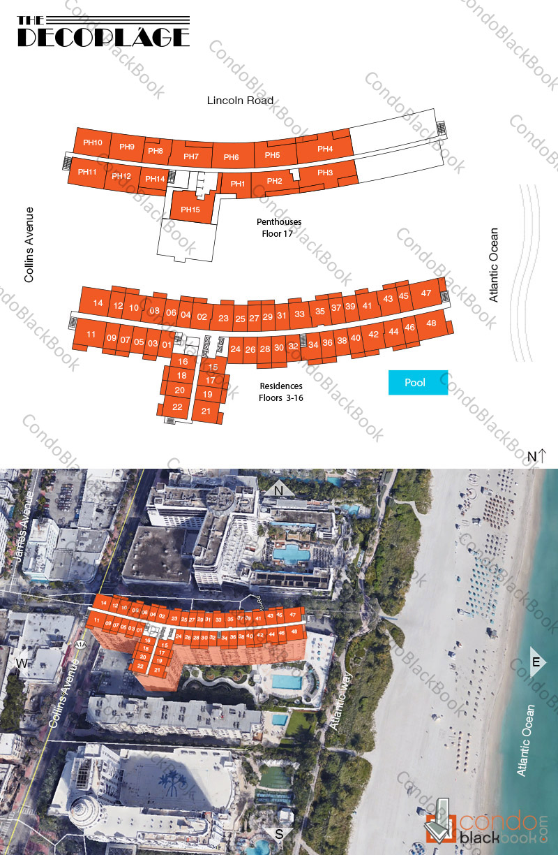 Decoplage floorplan and site plan