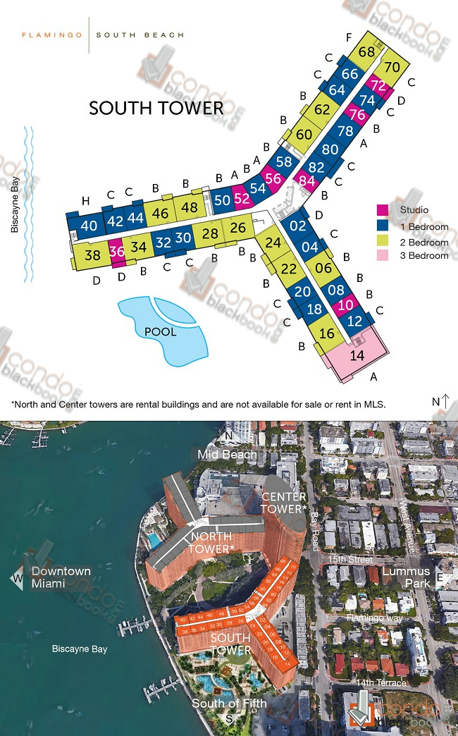 Flamingo South Beach floorplan and site plan