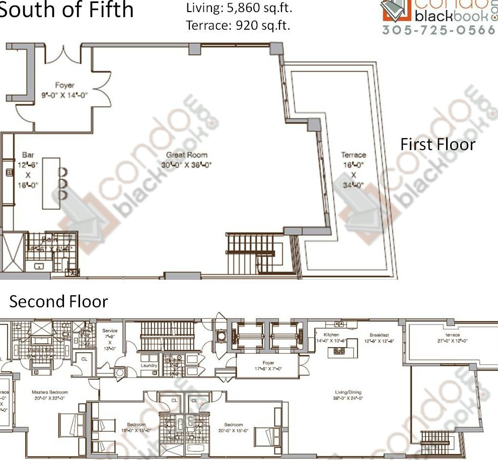 Brickell on the river floor plans brickell on the river for Miami house plans