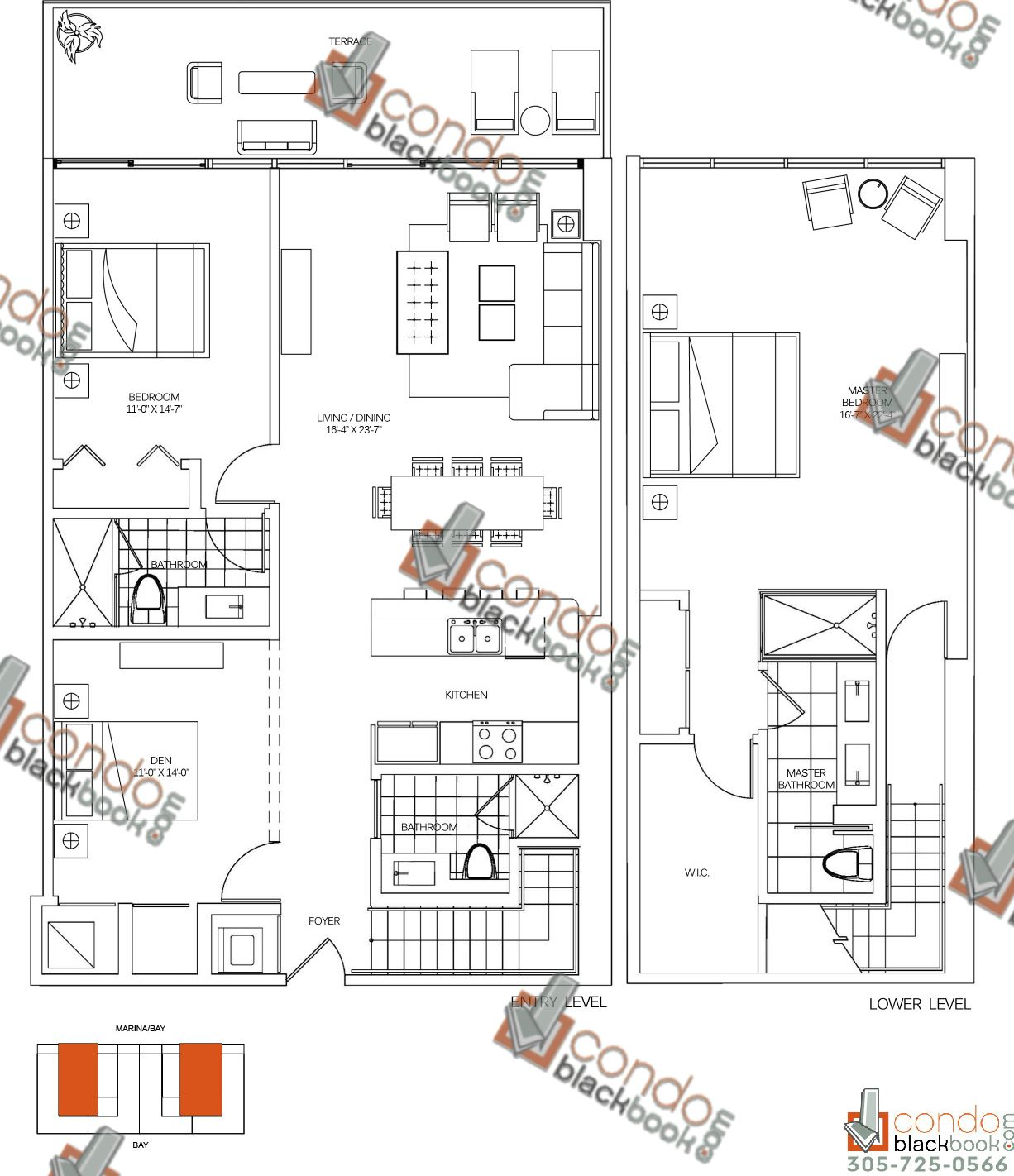 Floor plan for 400 Sunny Isles Sunny Isles Beach, model C, line 03, 2/3 bedrooms, 2,115 sq ft