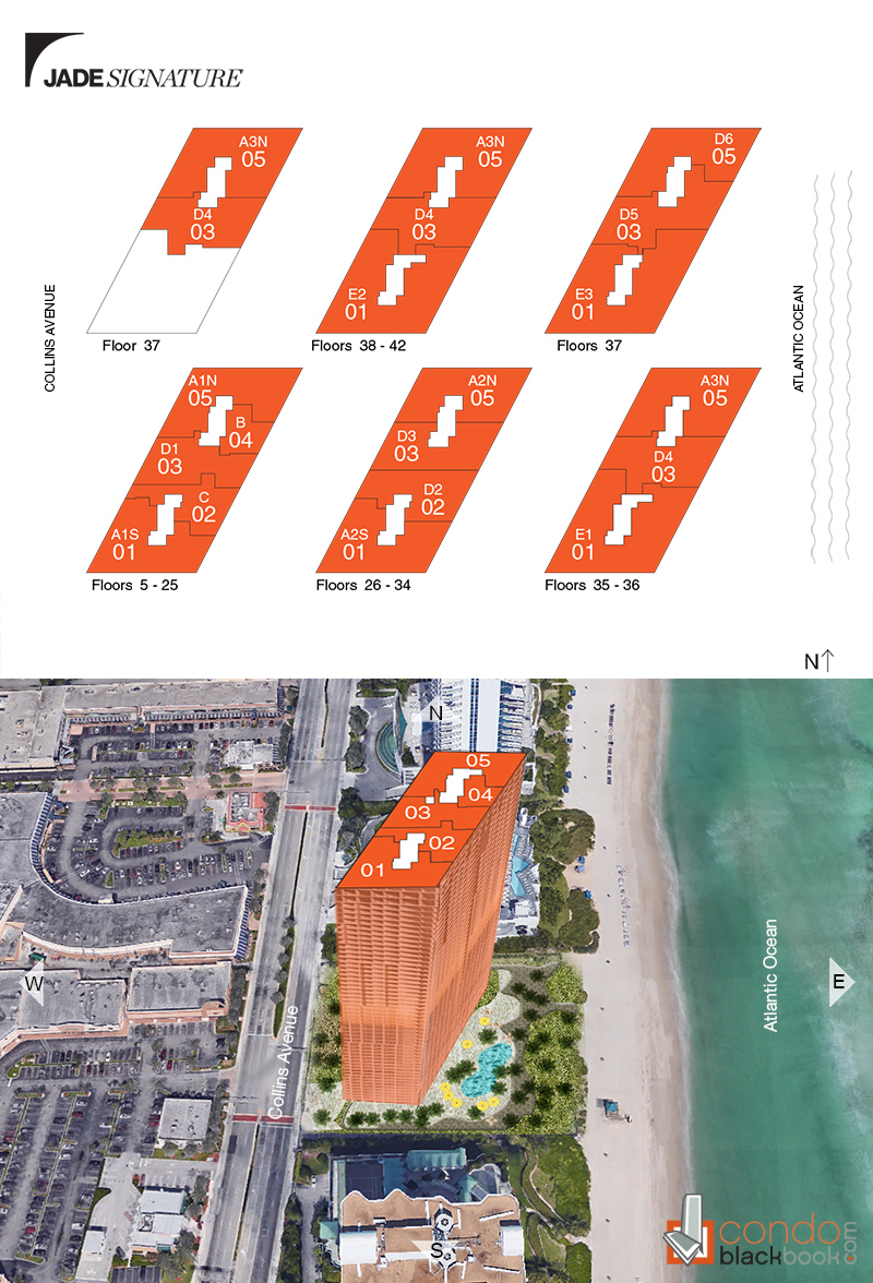 Search jade signature condos for sale and rent in sunny isles floor plans jameslax Choice Image