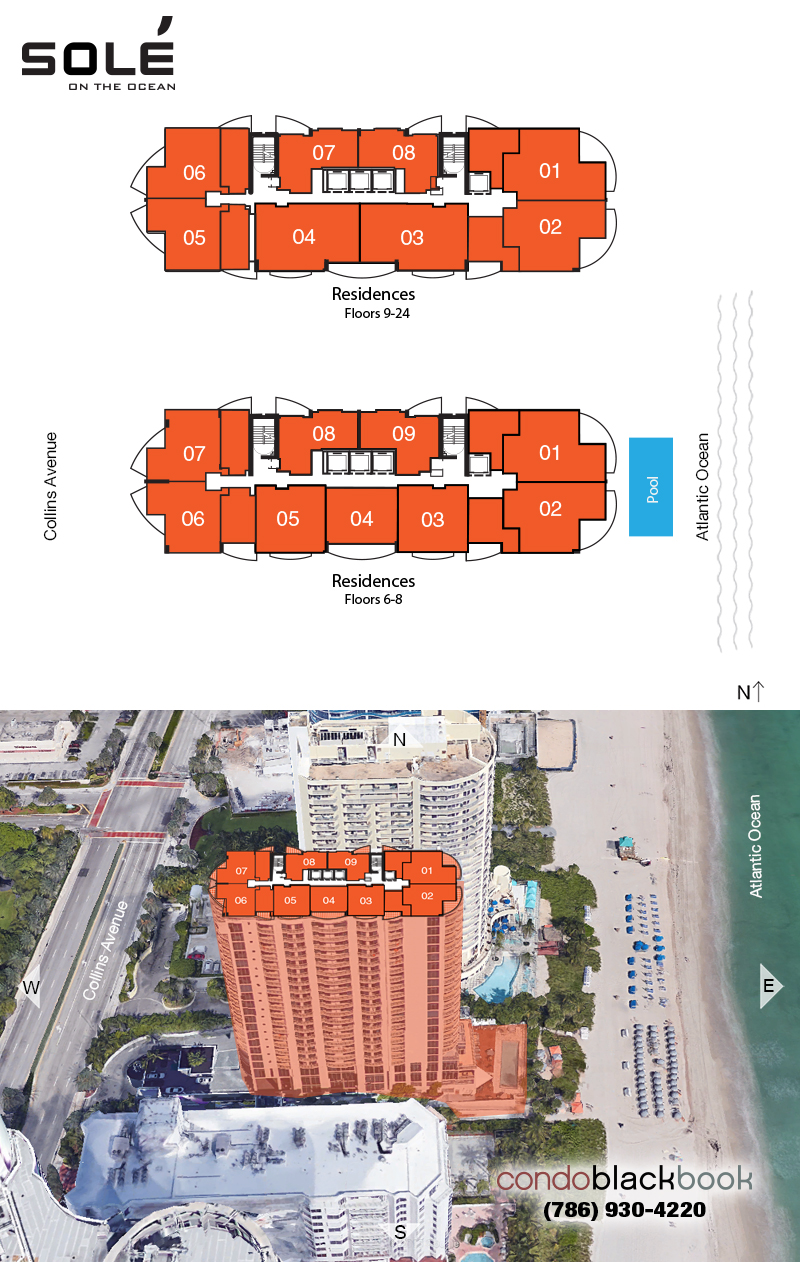 Sole floorplan and site plan