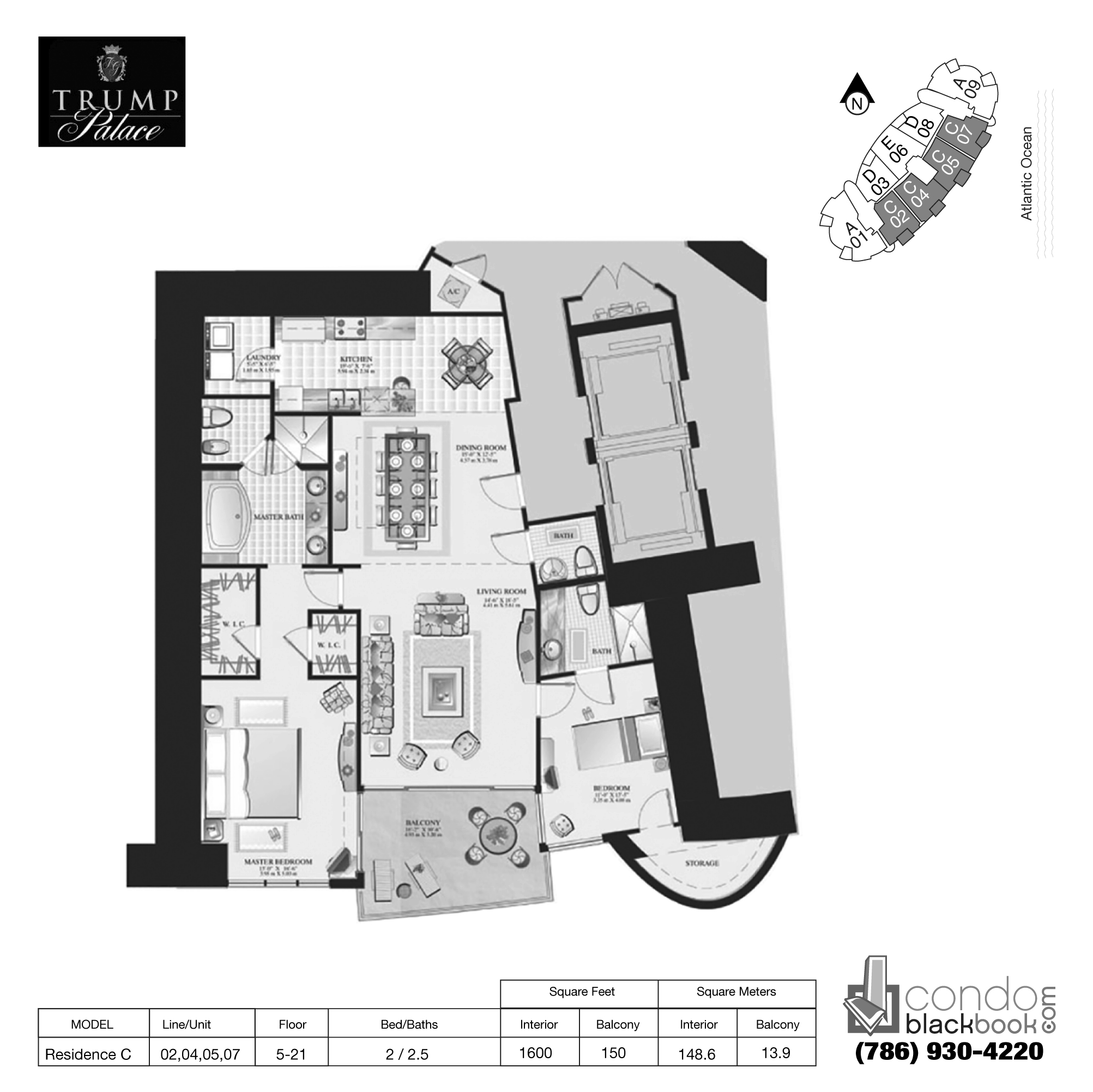 Trump palace unit 805 condo for rent in sunny isles beach for Floor plan book