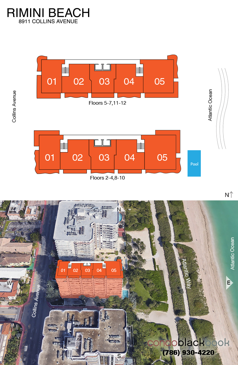Rimini Beach Floor Plans