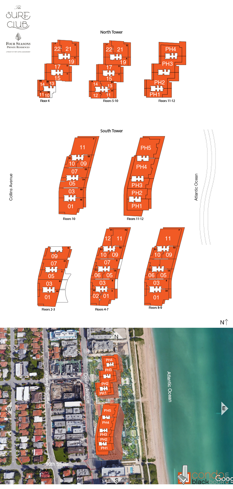 The Surf Club Four Seasons Hotel And Residences Floor Plans
