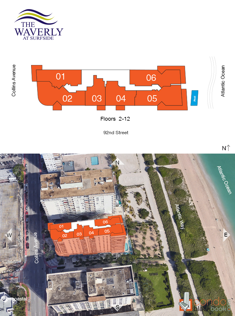 The Waverly at Surfside Floor Plans