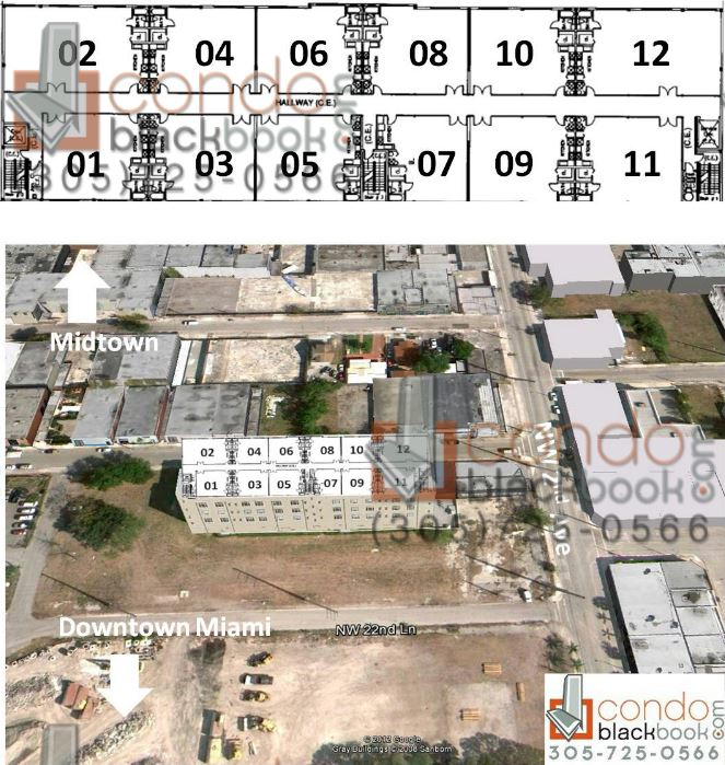 Wynwood Lofts floorplan and site plan