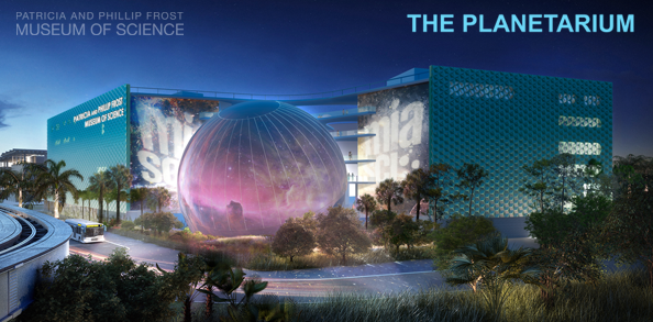 Patricia and Phillip Frost Planetarium Rendering