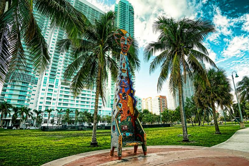 Three Mosaic Chairs - Margaret Pace Park, Miami