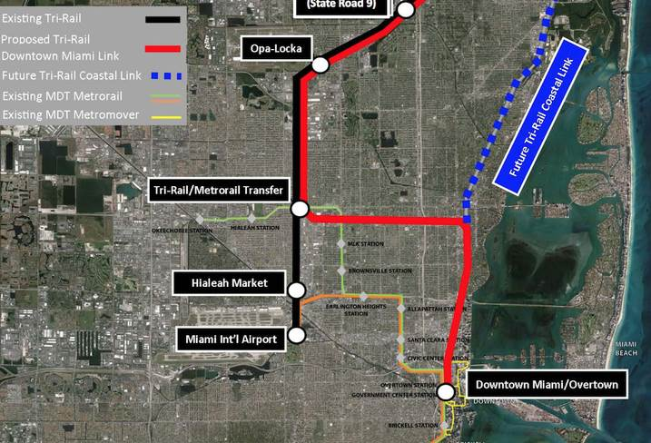 Tri-Rail is going into Downtown Miami, and eventually, Miami-Dade's east side.