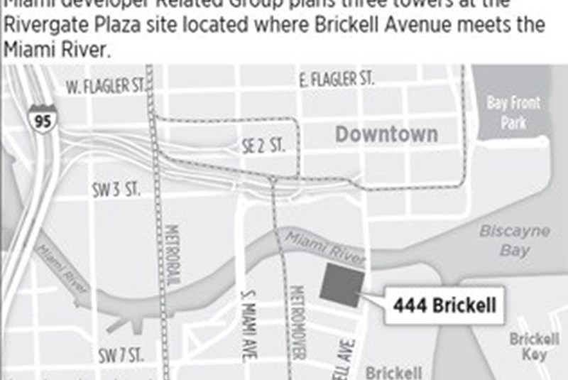 Related plans three-tower development in Brickell