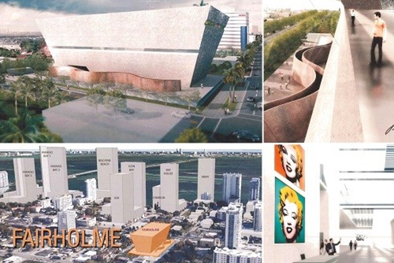 Proposed Stylish Museum Building on Biscayne Boulevard