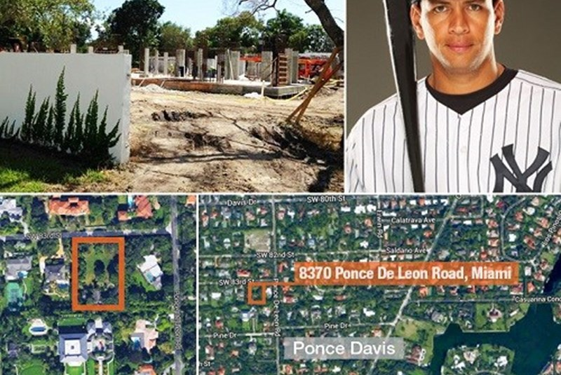 A-Rod Builds New Luxury Home in Ponce Davis