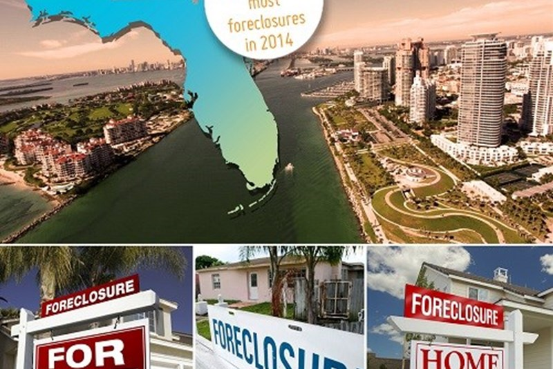 Florida Tops the List of the Highest Foreclosure Rates in the U.S. in 2014