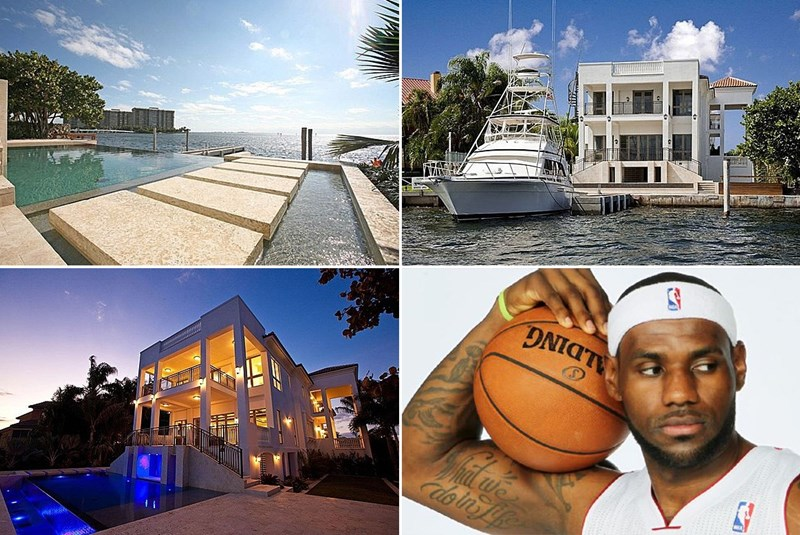 LeBron Spends His Breaks in Miami, but His House Is Still for Sale