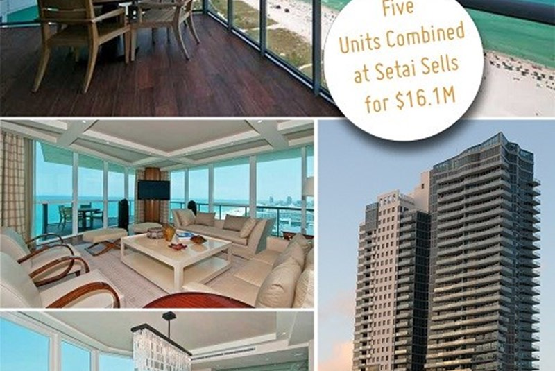 Five Condo Units Combined into One Mega Unit Sold for $16.1 Million at the Setai