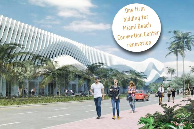 Lone Bidder Once Again Bids for Renovation of Miami Beach Convention Center